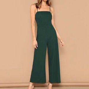 Forever 21 green cami jumpsuit